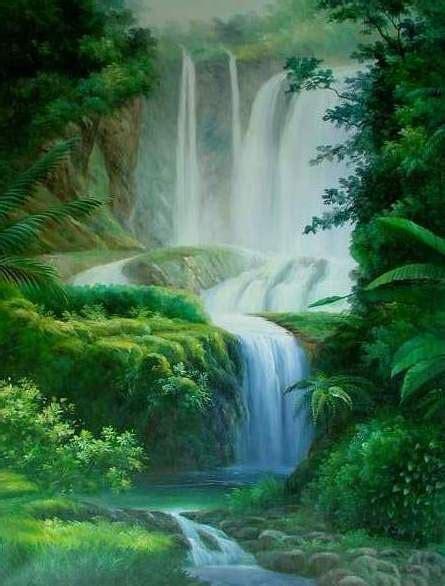Lukisan Paintings Nature lukisan pemandangan alam car interior design