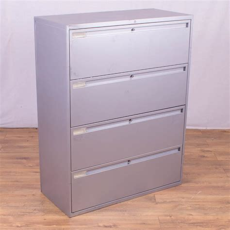 Silver Metal 4 Drawer Lateral Filing Cabinet Metal Lateral File Cabinet
