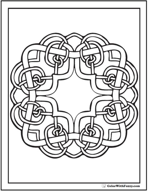 irish coloring book pages irish celtic coloring pages square knots pattern