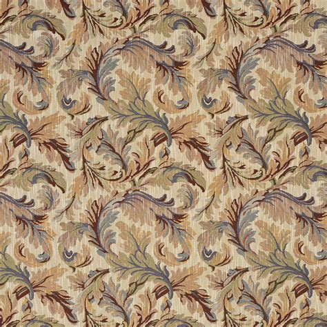 upholstery fabric leaves burgundy blue and green floral leaves tapestry