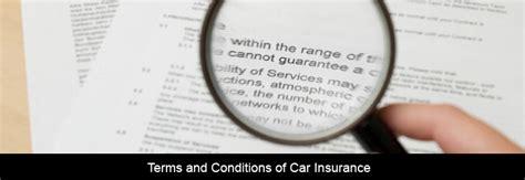 Insurance Company: Auto Insurance Terms