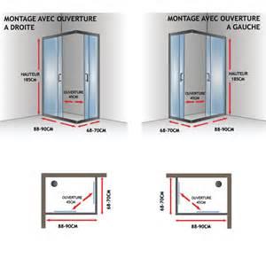cabine paroi 90x70 h185 cm verre transparent