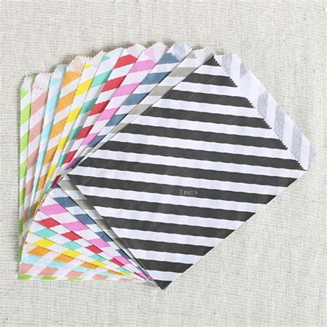 Wholesale Paper Craft Supplies - wholesale colorful stripes greaseproof craft paper gift