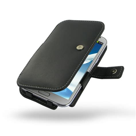 samsung galaxy note 2 leather flip cover case pdair