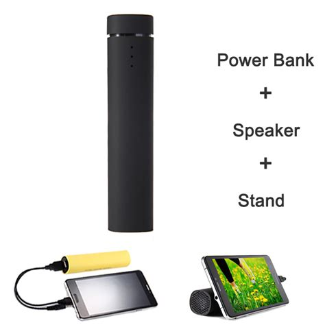 Smart Portable Mini Ups 5v2a 4000mah Black 3 in 1 4000mah power bank battery charger speaker stand
