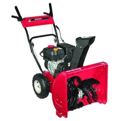 yard machines 22 in two stage gas snow blower