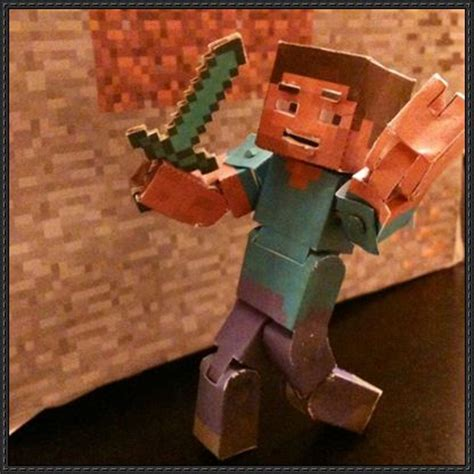 How To Make A Paper Steve - papercraftsquare new paper craft minecraft