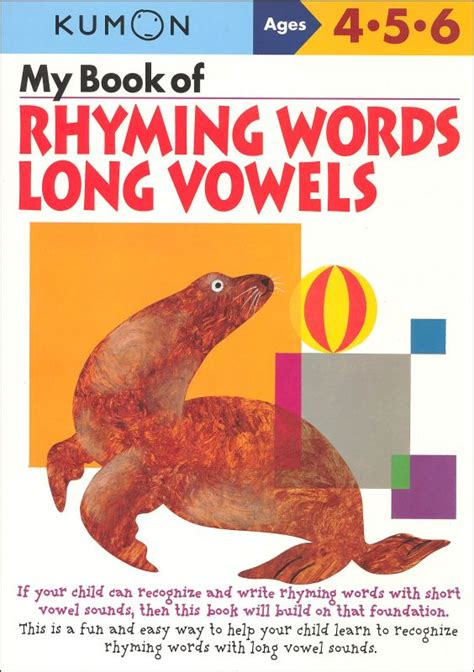 Buku Kumon My Book Of Drawing Ages 3 4 5 80 Pages my book of rhyming words vowels 019060 details rainbow resource center inc