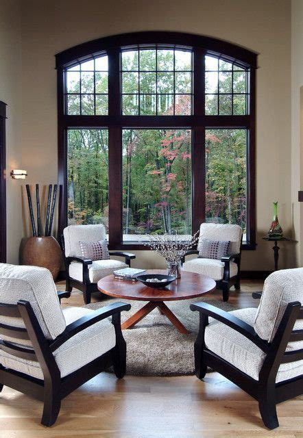 living room traditional wood trim stained dark dream