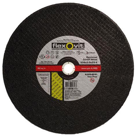 Cutting Whell flexovit 356 x 25 4mm metal cutting wheel bunnings warehouse