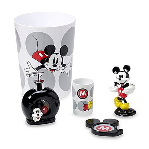mickey bathroom set mickey mouse classic bath ensemble bed bath beyond