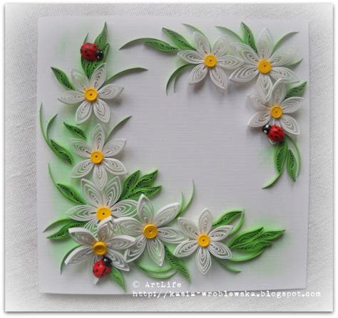 Paper Flowers For Cards - 371 best paper quilling 2d images on