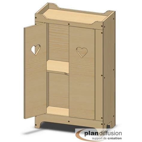 Plan Armoire De Rangement by Plan Armoire En Bois Pour Poup 233 E Plandiffusion