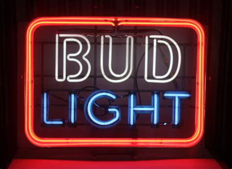 bud light light up sign for k vintage neon 3 color bud light sign large barware