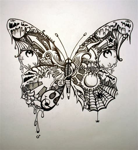 doodle skull meaning psychedelic butterfly pretty butterfly by shotgun