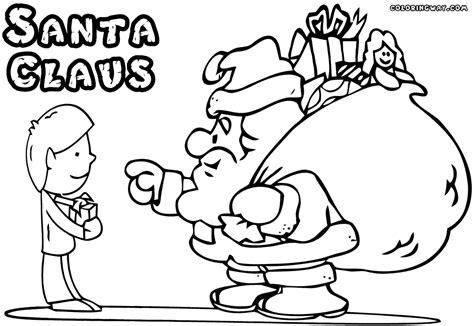 santa claus coloring page santa claus coloring pages coloring pages to
