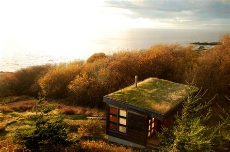 Eagle Point Cabin by Eagle Point Cabin With Green Roof Nestles On The Shore Of San Juan Island Homecrux