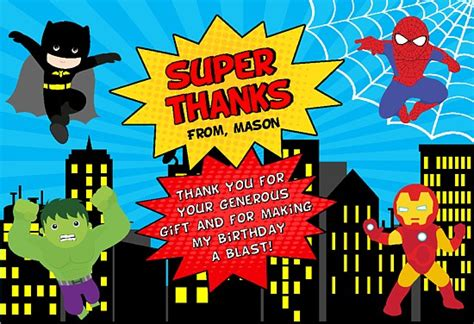 superhero   cards personalized