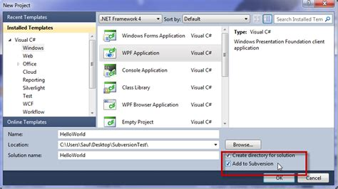 visual studio ankhsvn tutorial ilab cookbook subversion