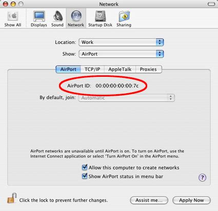 Mac Address Search On Network Os X 10 4 And Earlier Mac Book Wifinity