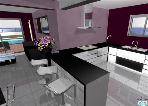 salon ouvert sur cuisine modele de cuisine ouverte sur salon collection avec