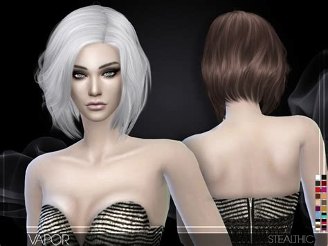 the sims 4 hair cc stealthic vapor female hair