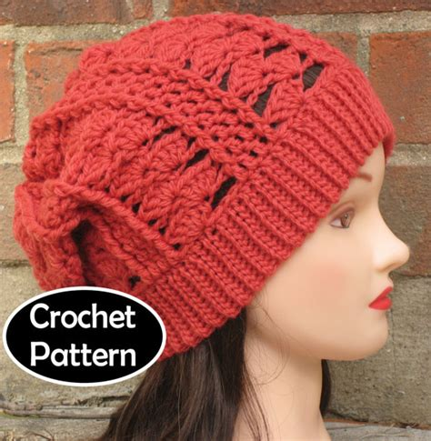 hat pattern download free crochet slouchy beanie hat patterns www pixshark