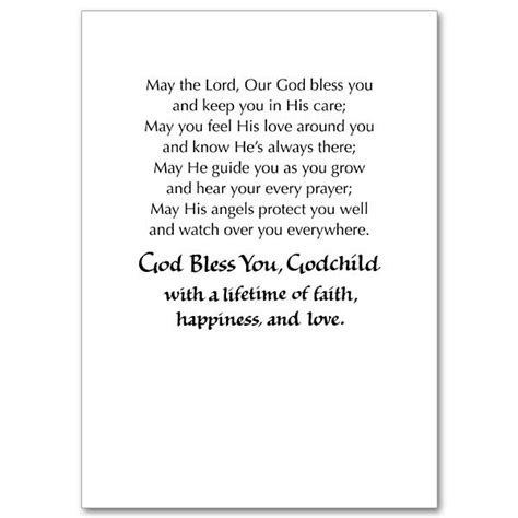 Confirmation Letter To Godson goddaughter card messages s 246 k p 229 cards