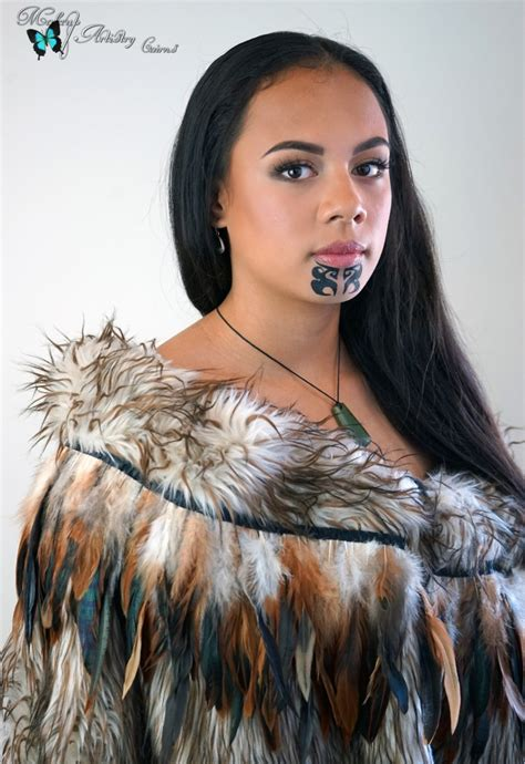 ta moko traditional maori tattoo cairns hair and makeup
