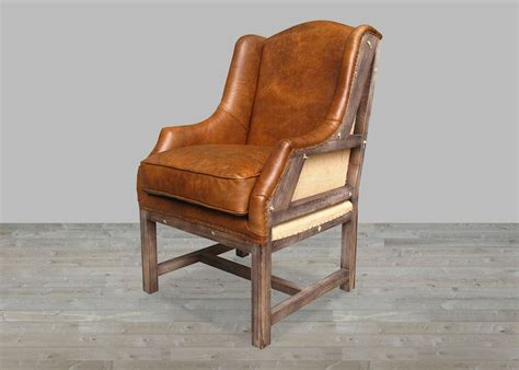 deconstructed brown leather chair