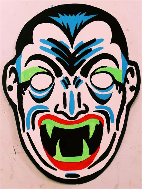 dracula vintage halloween mask painting by insert name