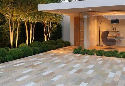 Maravillosa  Suelos Para Terrazas #8: Jardin-losas-estilo-minimalista-casa.jpg
