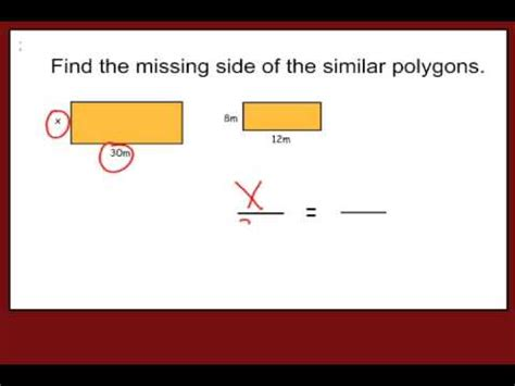 How To Find Missing How To Find The Missing Side Of A Similar Shape