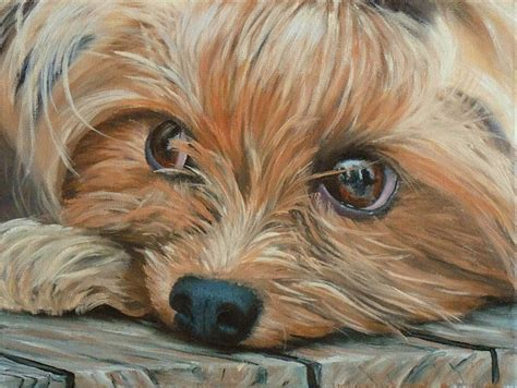 how to a yorkie puppy how to paint a terrier in lessons