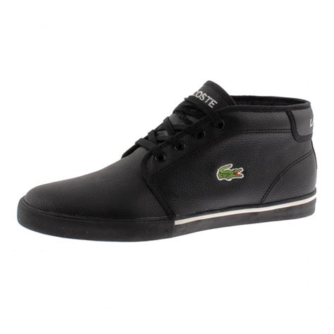 lacoste thill trainers in black for lyst