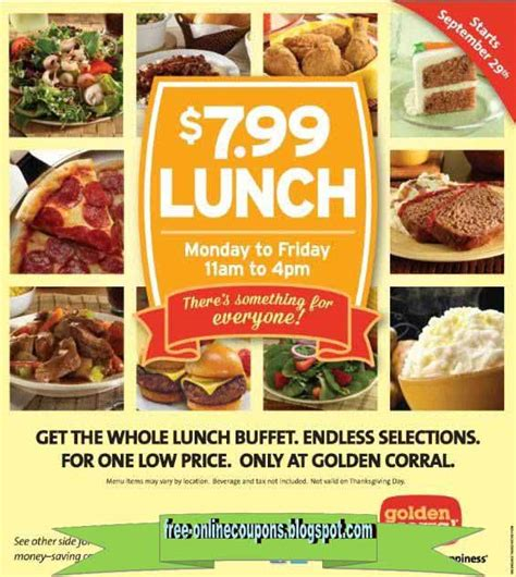 printable coupons 2017 golden corral coupons