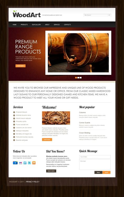Crafts Website Template 36785 And Craft Website Templates