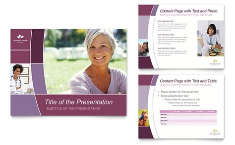 Women S Health Clinic Powerpoint Presentation Template Design Healthcare Presentation Templates