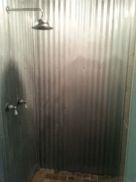 Using Corrugated Metal For Shower Walls by Is Unique In A Home Or Bad