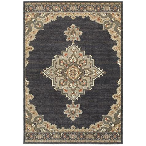rugs home decorators home decorators collection jameson navy 5 ft 3 in x 7 ft