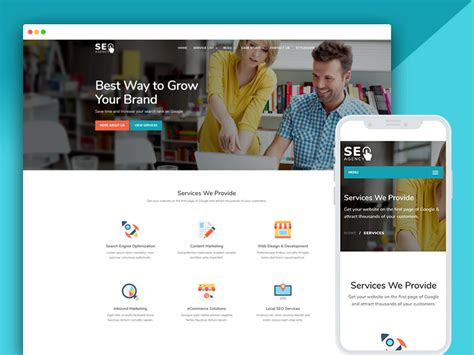 Best Bootstrap Responsive Web Design Templates 40 Ease Template Digital Marketing Responsive Website Template Free
