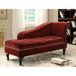Storage Chaise Lounge Furniture Of America Visage Fabric Storage Chaise Colonial Indoor Chaise Lounges At