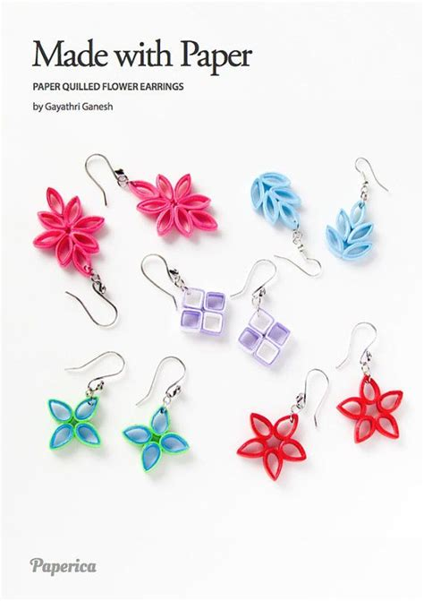 quilling earrings tutorial pdf diy paper quilling jewelry tutorial paper quilled flower