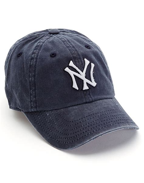 lucky brand yankees baseball cap in blue for navy lyst