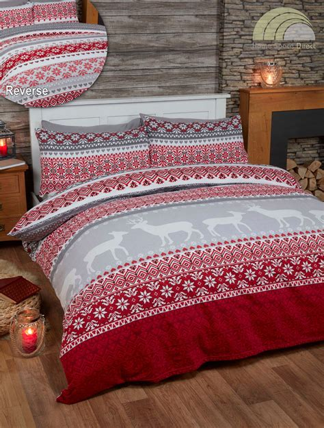winter bedding 100 cotton flannelette quilt duvet cover bedding bed sets christmas winter new ebay