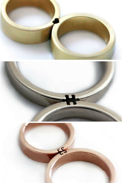 Wedding Rings For Couples by These Wedding Rings Only Make Sense When You Fit Them