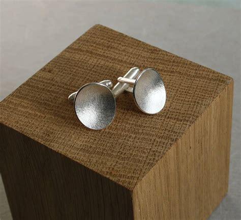 Handmade Silver Cufflinks - handmade silver pebble cufflinks by caroline cowen