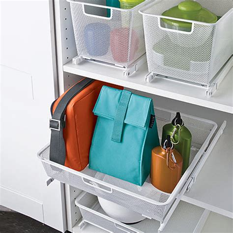 Container Store Bathroom Storage White Cabinet Sized Elfa Mesh Easy Gliders Container Store And Organizing