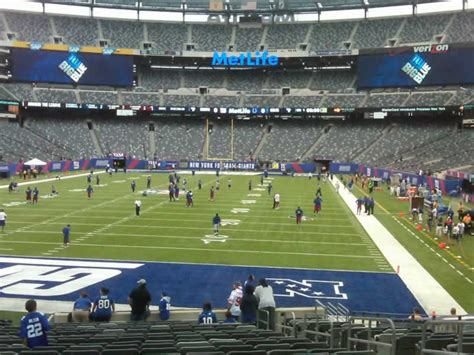 metlife stadium section 149 metlife stadium section 149 giants jets rateyourseats com