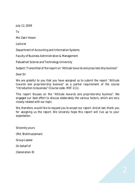 Business Letter Sle Partnership Attitude Towards Sole Proprietorship Business